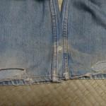 裾部分のリペア前