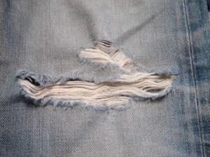 膝のデニムリペア
