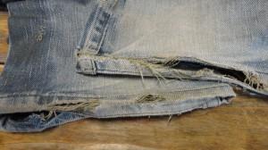 裾のジーンズリペア
