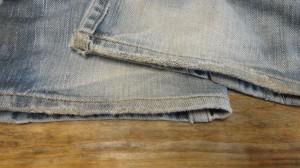 裾のジーンズ リペア後