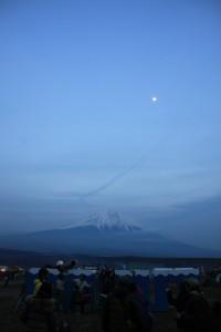 朝一の富士山