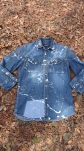 デニムシャツのカスタム