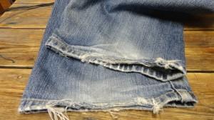 裾のリペア