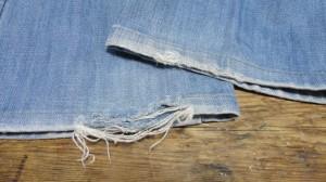 デニムリペア裾
