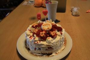 誕生日ケーキ製作